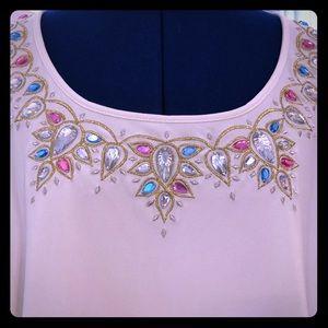 Jeweled L/S Blouse